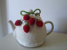 Knitting Pattern for Strawberry Fields  Tea Cosy  £4.00