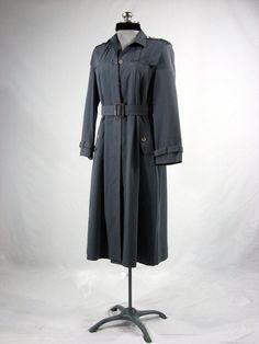 Vintage 1940s wool gaberdine trench coat by VintageRoseTattoo