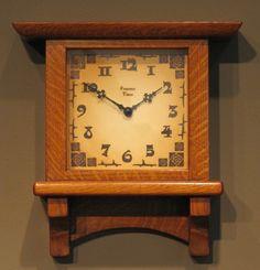 Craftsman Clocks, Craftsman Furniture, Craftsman Style, Mantel Clocks, Old Clocks, Antique Clocks, Make A Clock, Diy Clock, Mission Style Homes