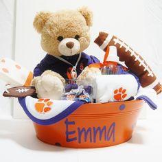 www.BabyBasketsU.com College Baby Gifts Collegiate Baby Gifts Baby Baskets Clemson Baby