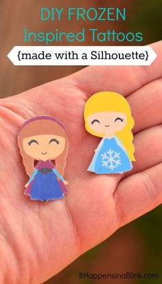 Frozen Inspired Tattoos made with a Silhouette machine