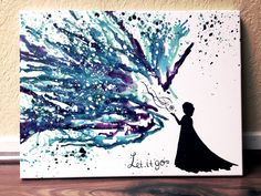 "Disney-Frozen-melted-crayon-art ""Let It Snow! Disney Diy, Disney Crafts, Cute Crafts, Crafts To Do, Crafts For Kids, Arts And Crafts, Cuadros Diy, Crayon Crafts, Crayon Ideas"