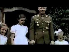 Color film of Erwin Rommel inspecting Norman defenses and playing with the Göbbels children