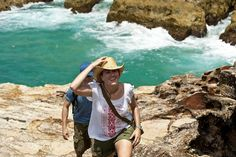 North Gorge Headland Walk, North Stradbroke Island. The walk has gorgeous views of the ocean and if you're lucky you could spot turtles, manta-rays, dolphins and whales from the lookouts.