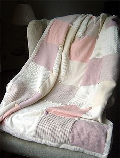 Recycled Wool Sweater Quilts