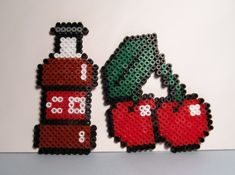 Cherry Coke Hama Beads by DiiDika