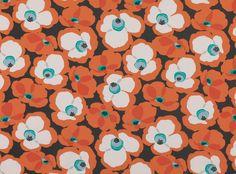 Makela Clementine - Makela - Contemporary Print : Upholstery Fabrics, Prints, Drapes & Wallcoverings Orange Fabric, Weaving, Kids Rugs, Contemporary, Interior Design, Floral, Prints, Pattern, Model