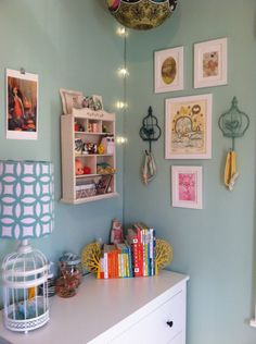 Wall art in this whimsical, eclectic nursery - #nurserydecor