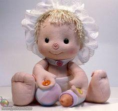 Boneca de Pano: Boneca com Botões - pap