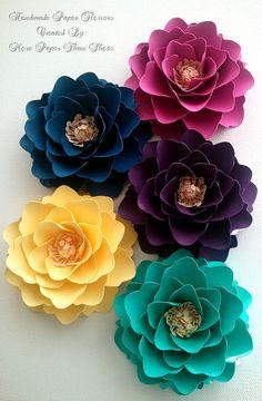 X-Lg Paper Flowers - Wedding - Mixed Colors - Custom Colors - Set of 25
