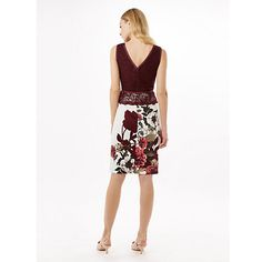 Buy Phase Eight Hansel Lace Dress, Dark Red/Multi Online at johnlewis.com