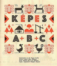 Brochure of Képes Könyv by Hungarian designer Johann Tábor. Published in 1930 in Gebrauchsgraphik. Source: From the collection of David Levine, via Letterology