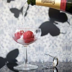 Black PepperRaspberry Sorbet with Prosecco