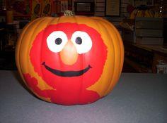 Elmo pumpkin I painted