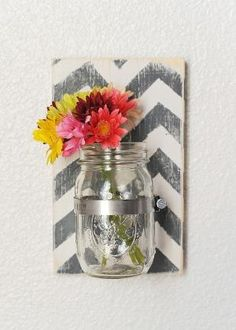 Wood Mason Jar Wall Sconce Large Sconce by JHomeStudios on Etsy, $16.00 by millie