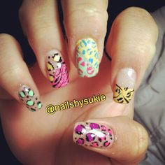 Pretty Animal Prints Nails