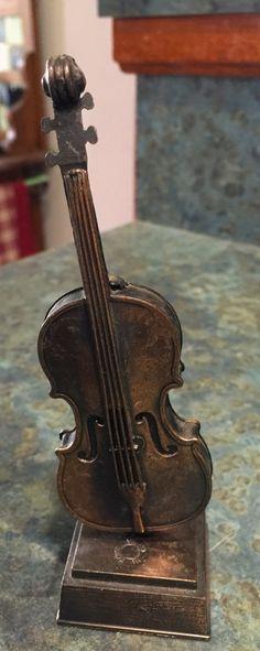 Vintage Brass Violin  Pencil Sharpener by LeftoverStuff on Etsy