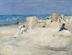 Liebermann, Max : Sulla spiaggia di Nordwijk