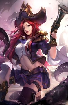 Miss Fortune Fan Art League of Legends Miss Fortune Fan Art League of Legends Miss Fortune Fan Art League of Legends art<br> Lol League Of Legends, Katarina League Of Legends, Akali League Of Legends, Girls Characters, Fantasy Characters, Female Characters, Miss Fortune, Pirate Art, Pirate Woman