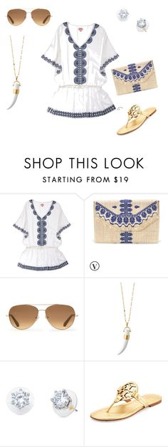 Poolside Breakfast by meredith-josephine on Polyvore featuring Tory Burch and Stella & Dot