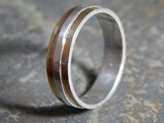 Rustic Silver & Copper Wedding Band sterling silver  by PaulZozem, $88.00