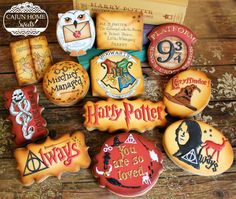 Harry Potter Cookie Set by Cajun Home Sweets.