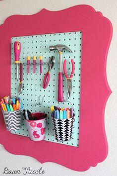 10 Craft Room Pegboard Organization Ideas | Dawnnicoledesigns.com