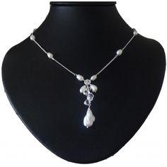 Sterling Silber Brautkette Keshi Ornara Design