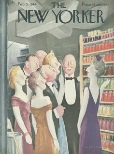 The New Yorker - Saturday, February 5, 1944 - Issue # 990 - Vol. 19 - N° 51 - Cover by : William Cotton