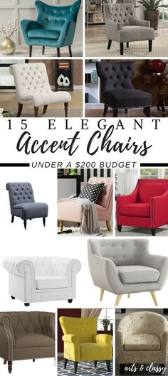 15 Elegant Accent Chairs On A Budget - Under $200 | Arts and Classy