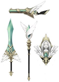weapons with a wing motif? not my thing personally but it fits the 'weapons drawing/design' bill for my board.