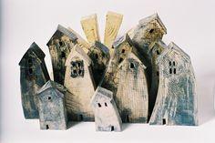 Ceramic houses village Marian Daems