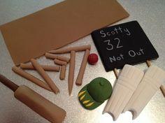 Cricket Cake Topper Set edible fondant by CharmedCreationsCake
