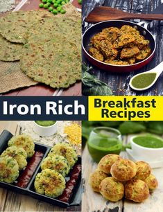 37 Iron Rich Healthy Breakfast Recipes: Veg High Iron Breakfast Recipes   Page 1 of 4