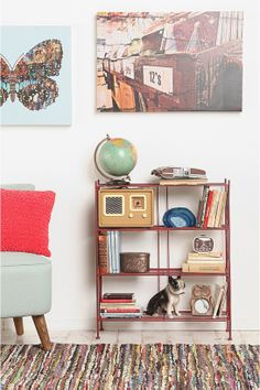 Red Brimfield Bookcase at Urban Outfitters