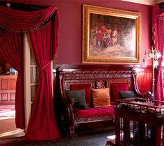 Portière Styles & Design Tips Victorian Interiors, Victorian Decor, Victorian Homes, Victorian Curtains, Neo Victorian, Elegant Home Decor, Elegant Homes, Gothic Interior, Interior And Exterior