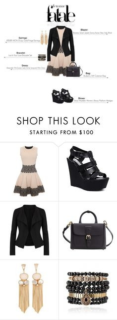 """""""Femme Fatale FOUR"""" by valpm ❤ liked on Polyvore featuring Alexander McQueen, Steve Madden, Donna Karan, Burberry and Samantha Wills"""