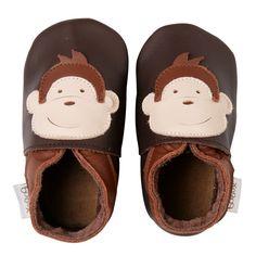 soft sole chocolate monkey | Bobux