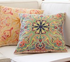 Penelope Indoor/Outdoor Pillow | Pottery Barn (for the loveseat)