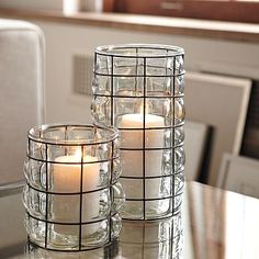 Absolutely love these glass candle holders: they would look good anywhere. Fill yours with Candle Impressions flameless candles to prevent any wax or heat damage. Would not want these to get ruined!
