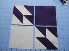 Cascade Quilts: Hunter's Star tutorial by Karen Vail.First, I highly suggest… Patchwork Quilt Patterns, Beginner Quilt Patterns, Quilting For Beginners, Quilt Block Patterns, Quilting Tutorials, Quilting Projects, Quilting Designs, Quilting Tips, Star Quilt Blocks
