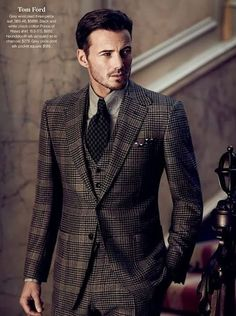 Tom ford spring 2016 menswear men's fashion men's outfit for. Gentleman Mode, Dapper Gentleman, Gentleman Style, Suit Up, Suit And Tie, Sharp Dressed Man, Well Dressed Men, Gq, Tom Ford Suit