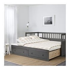 IKEA - HEMNES, Daybed frame with storage, Four functions - sofa, single bed, double bed and storage solution.