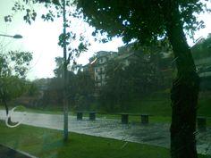 Barranco con lluvia