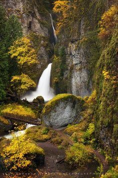 Autumn waterfall (Columbia River Gorge, Oregon) by Sean Bagshaw on 500px
