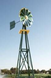 A backyard version of an Outdoor Water Solutions windmill has been designed and created with the same high standards in quality workmanship the company has been recognized for.