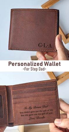 Personalized Wallet For Step Dad • Wallet For Men • Wallet For Dad • Wallet For Dad Father's Day • Father's Day Gift For Dad • Personalized Gifts For Dad • Personalized Gifts For Dad From Daughter • Custom Gifts For Dad • Gifts For Dad From Daughter • Gifts For Dad From Son • Gifts For Dad From Toddler Son • New Dad Gifts • First Time Dad Gifts • Father's Day Gift For New Dad • First Father's Day Gifts • Father's Day Gift For New Dad • Father's Day Gifts For First Time Dads Grandpa Gifts, Gifts For Husband, Gifts For Father, Custom Gifts, Personalized Gifts, Etsy Handmade, Handmade Gifts, Men Wallet, Amazing Gifts