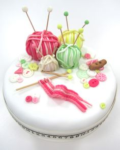 Knitting cake - Frances from the Great British Bake Off's Blog - wow that woman is talented!