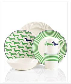Kate Spade Dachshund Plates - Dachshund gifts Home - Dachshund Home Decor #ad