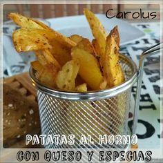 Patatas del horno con queso y especias. - Carolus Cocina